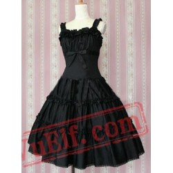 Cotton Black Ruffles Classic Lolita Dress