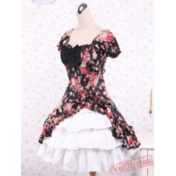 Cotton Patch Short Sleeves Cotton Classic Lolita Dress