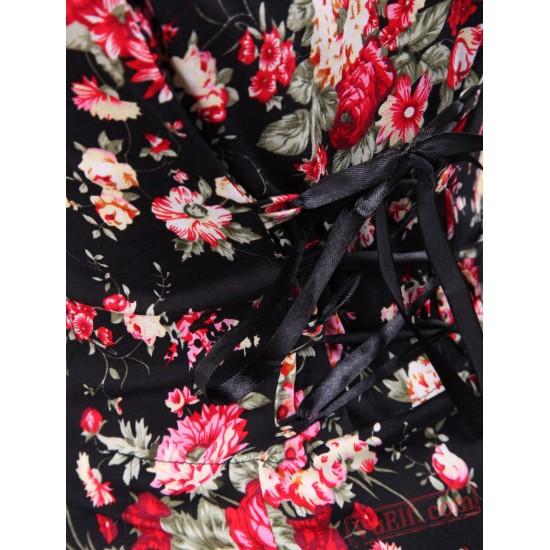 Cotton Patch Short Sleeves Cotton Classic Lolita Dress