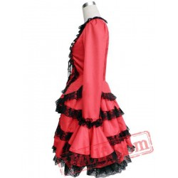 Long Sleeves Multi-Layer Cosplay Lolita Dress
