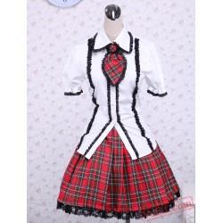 White Puff Short Sleeves Lolita Dress