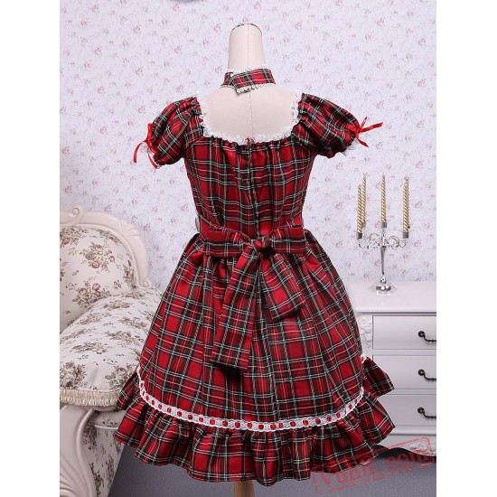 Short Sleeves Cotton Cosplay Lolita Dress
