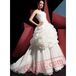 Cute White Gothic Lolita Corset Wedding Dress