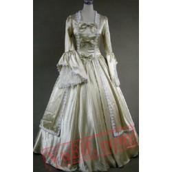Gold Long Sleeve Winter Victorian Wedding Dress
