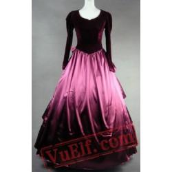 Long Sleeve Winter Medieval Renaissance Wedding Dress