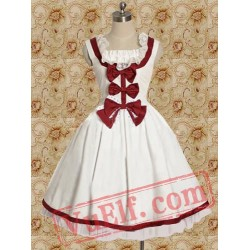 Cotton White Sleeveless Sweet Lolita Dress