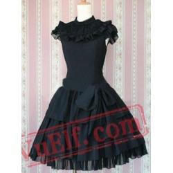 Rayon Sash Ruffles Gothic Lolita Dress