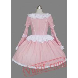 Pink Sleeves Multilayer Cotton Sweet Lolita Dress
