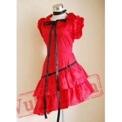 Red Asymmetical Sweet Lolita Dress