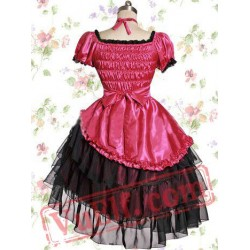 Rose Satin Yarn Sweet Lolita Dress