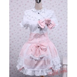 Pink Cotton Sweet Lolita Dress