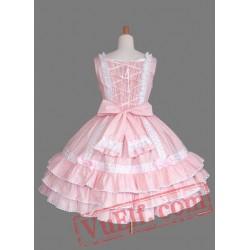 Sweet Pink Multi layer Cotton Lolita Dress