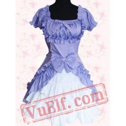 Sweet Short Sleeves Cotton Lolita Dress