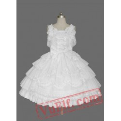 White Sleeveless Layer Cotton Sweet Lolita Dress