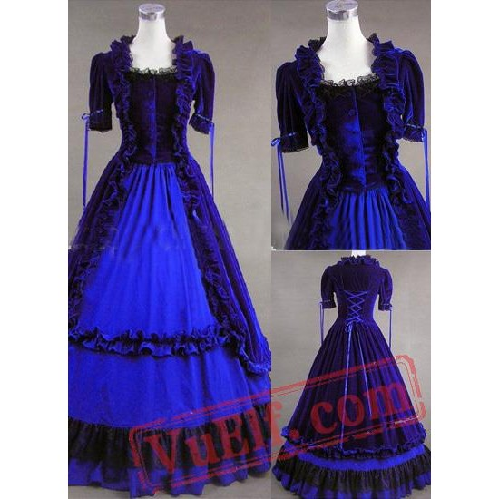 Classic Blue Gothic Victorian Dress
