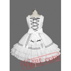 White Sleeveless Multi layer Sweet Lolita Dress