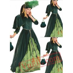 Classic Green Victorian Dress