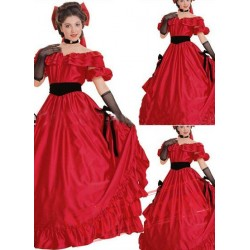 Classic Princess Red Gothic Victorian Dress