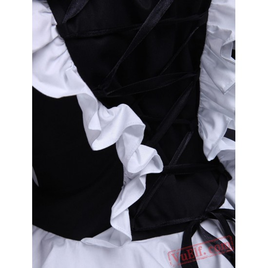 Black Cotton Bandage Striped Gothic Lolita Dress