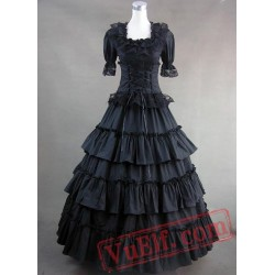 Classic Black Gothic Victorian Dress
