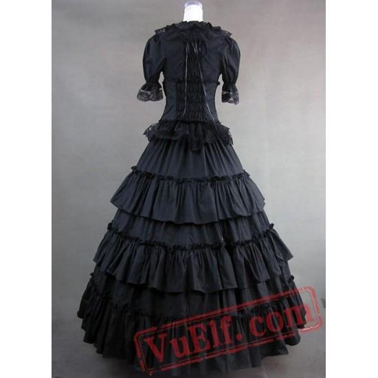 Classic Black Gothic Victorian Dress