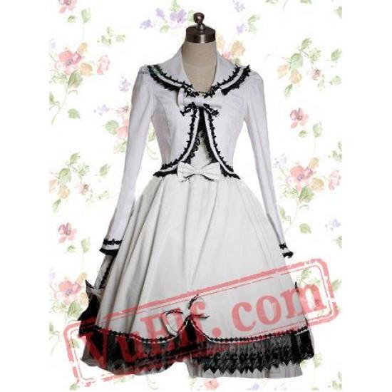 White Cotton Sweet Lolita Dress