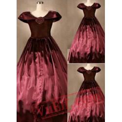 Elegant Red Gothic Victorian Dress