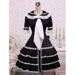 Black Ruffles Gothic Lolita Dress