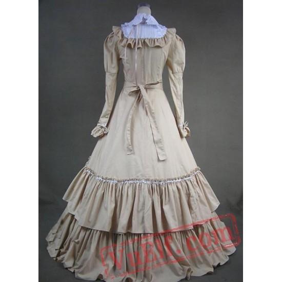 Long Victorian Fashion Dress