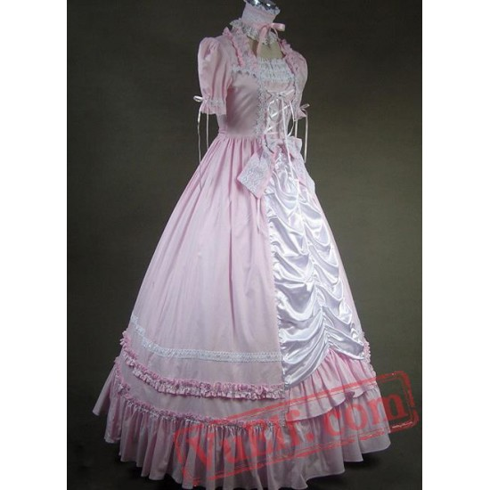 Pink and White Victorian Style Dress