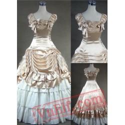 Luxuriant Champagne Gothic Victorian Dress