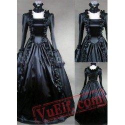 Pure Black Gothic Victorian Dress