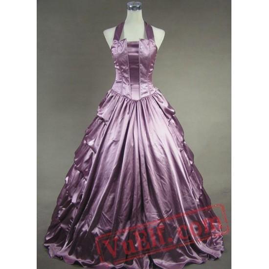 Halter Victorian Ball Gown