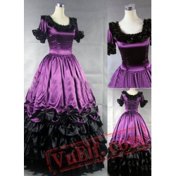 Ornate Purple Gothic Victorian Dress