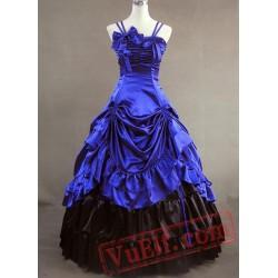 Jewelery Blue Sleeveless Gothic Vitorian dress