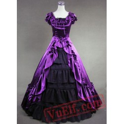 Purple and Black Victorian Dress
