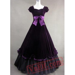 Purple Cotton Gothic Victorian Dress