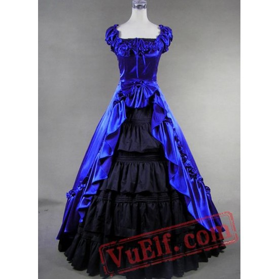 Royal Blue Victorian gown costume