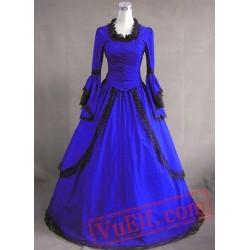 Royal Blue Vintage Victorian Dress