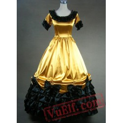Short Sleeves Golden Victorian Lolita Dress