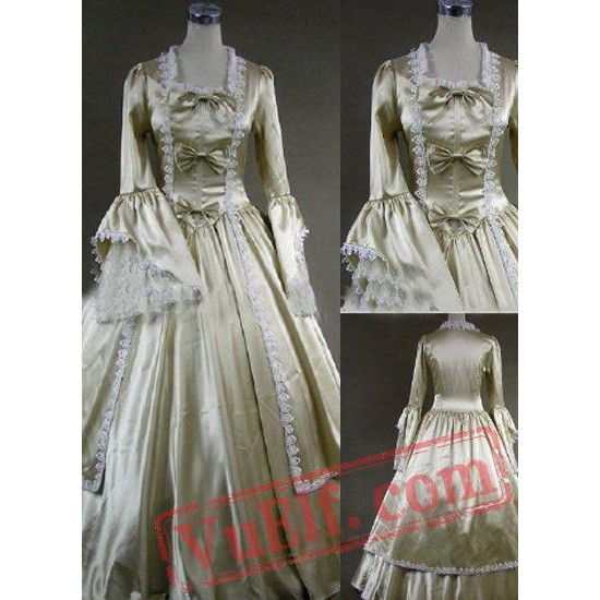Vintage Champagne Gothic Victorian Dress