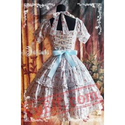 Blue Flowers Bow Lolita OP Dress