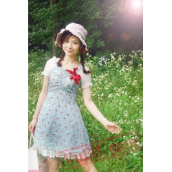 Blue Strawberry Lolita Dress