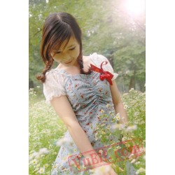 Blue Strawberry Lolita Dress