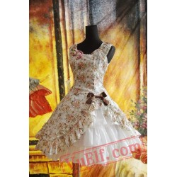 Brown Bold Flowers Lolita Dress JSK