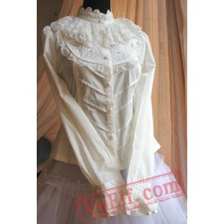 Cotton Lace Blouses Embroidery Lolita Dress