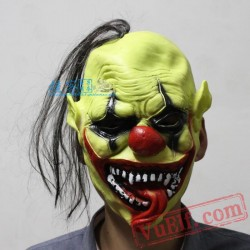 Green Clown Halloween Masks