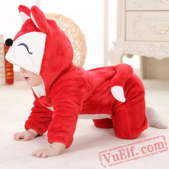 Baby Cute Red Fox Kigurumi Onesie Costume