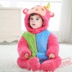Baby Cute Rainbow Monkey Kigurumi Onesie Costume