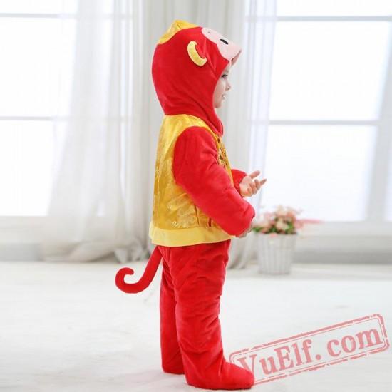 Baby Monkey Kigurumi Onesie Costume